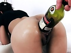 EXTREME BOTTLE PENETRATION IN ASS AND Muff. PROLAPSE CERVIX