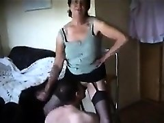 Predominant Grandmother Wants Him To Lick Her Pussy