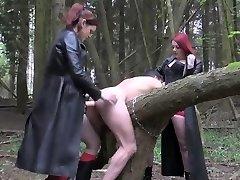 English femdoms pegging and humiliating victim