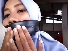 indonesian hijab doll selfgagged