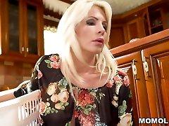 Blonde Stepmom Can't Discipline Her Horny Son