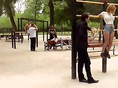 Two European marionettes tormented in public