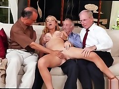 Old man small girl and brutal old fellow and elder man handjob and old man