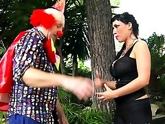 Exotic Stunner Gets Kinky With A Naughty Clown