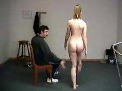 Demeaning naked exercises for teacher spanking shame