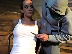 Busty euro gets fingered and titty tortured