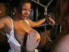 Immense boobs in breast bondage