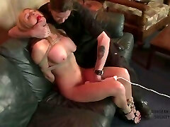 Busty slut fights as her kinky date ties her up (p1)
