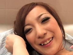 Kinky fuckslut licks dude's ass and cock in the bathroom