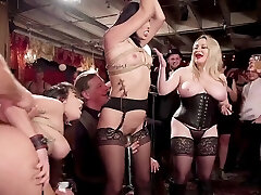 BDSM swingers intercourse with glitter & electro beatings