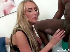 Interracial Bbc For Blonde Swinger Wife