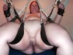 Bound SSBBW in sex wag