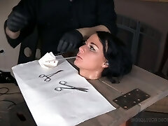 Real bi-atch London River gets her coochie punished by one kinky dude