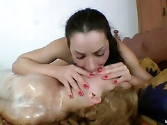 Kissing and Humiliation of Alive Mummy - Helpless Mouth for Letcica