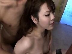 Impressive three way bondage with Tomoka Sakurai