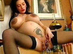 Pregnant. Monster Vagina. Extraordinary piercing.