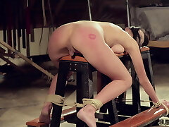 Kinky bondage sex nubile tied up and penetrated in bdsm porn