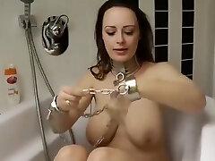 Katha German Gimp Girl in Self Bondage And Gagged Neandra