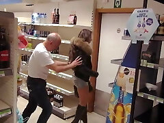 Shoplifter punished by owner witha gang-bang and dp