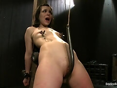 Pretty gets punished - double penetration and made to sploog into exhaustion
