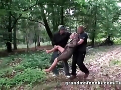 Granny gets corded and fucked