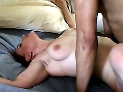 the white slut has bbc party at her house