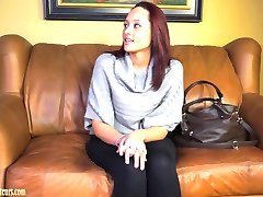Amateur girls on casting couch go total lesbian
