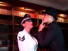 Radny bitch thrusts a stick in policewoman's a-hole