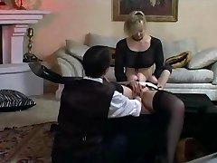 Lady and maid trussed and fisted