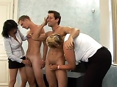 What is the Name of the Blonde Czech CFNM Round MILF ?