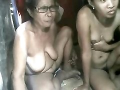 FILIPINA Grandmother AND NOT HER GRANdaughter SHOWING ON Webcam