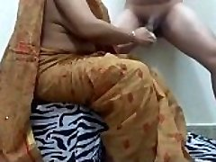 aunty pruning cock getting prepped boy for fuck. ganu