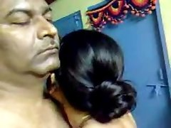 Glorious Homemade Indian Mature Unshaved Couple Have Awesome Sex
