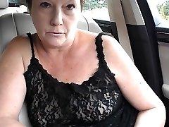 Mature lil bap topless dare in car
