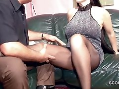 Wooly German MILF in Nylon get Hard Plumb and Cum On