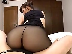Japanese mature black pantyhose fuck-a-thon