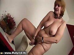 Senior naked housewife is deepthroating big part5