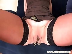 I am Pierced marina with 15 pussy rings assfucking sex
