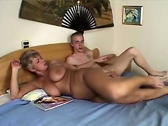 Mature fattie milf takes facial