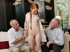 old men with young redhair honey