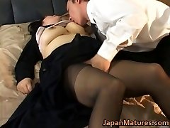 Japanese mature chick has steamy sex