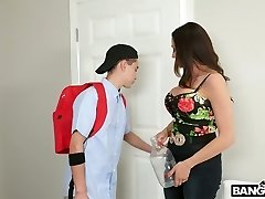 Insatiable stepson fucks mega busty Colombian step mummy Ariella Ferrera