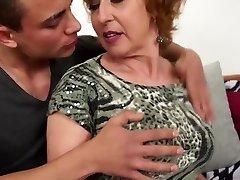 Sexy Czech grannie fucks young lucky stud