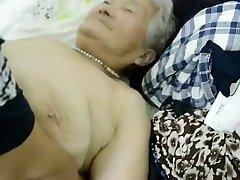 80yr old Japanese Grandmother Still gets Creamed (Uncensored)
