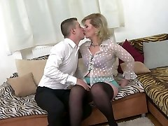 Taboo home romp with real mature mommy Mirka