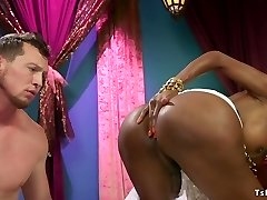 Ebony ladyboy goddess anal bangs male