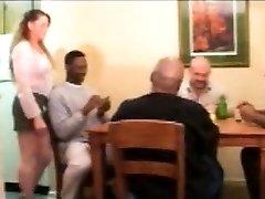 Vintage interracial sex with blondie milf