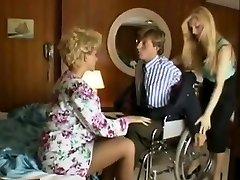 Sharon Mitchell, Jay Pierce, Marco in antique fucky-fucky scene