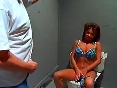 Big tit bikini bimbo sextsar Leanna bathroom fuck