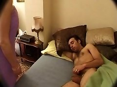 French Mommy wakes up NOT her sonnie with Blowjob